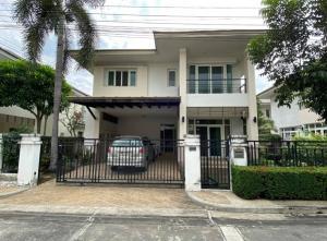 For RentHouseChengwatana, Muangthong : 2 storey detached house for rent, Bangkok Blueward Village, Chaengwattana, Pak Kret Bypass Road, Soi Samakkhi, beautiful house, good condition, fully furnished, housing, animal husbandry