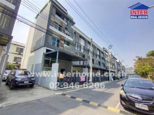 For SaleTownhouseLadprao 48, Chokchai 4, Ladprao 71 : SPACE Townhome, corner room, Ladprao 80, Townhome 4 floors, 25.9 sq.w., near Singapore International School, Bangkok, Soi Chanthima