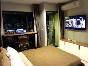 เช่าคอนโดพระราม 9 เพชรบุรีตัดใหม่ : Rental : Rhythm Asoke  High Class CondominiumStudio  1ห้องน้ำ , 23 ตรม. , ชั้น 34 , วิว G Tower🔥 Rental : 13,000 THB / Month🔥🔥