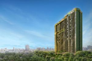 Sale DownCondoLadprao, Central Ladprao : Sell by owner The lowest price of the project does not block a high floor view