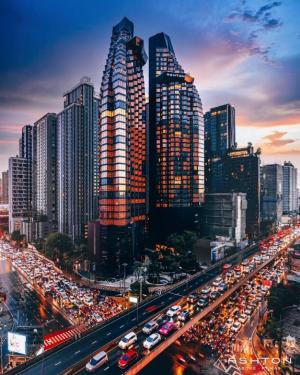 For SaleCondoRama9, RCA, Petchaburi : Sales loss 1.2 million baht, room before transfer, luxury condo Ashton asoke-rama9 (Aston Asoke-Rama 9) 1 bed 42.5 sq m, 30th floor, building O, price 9,900,000 baht, the cheapest in the building.