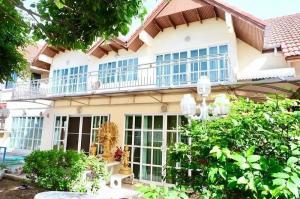 For SaleHouseKaset Nawamin,Ladplakao : ⭕ 2 storey detached house for sale, Mani Nilville village, size 99.8 sq m, near Lat Plakhao Pittayakhom School