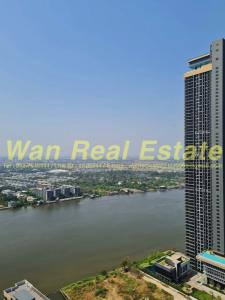 For SaleCondoRattanathibet, Sanambinna : Condo for sale politan rive along the Chao Phraya River, beautiful decoration, complete, ready to move in, but you can move in.
