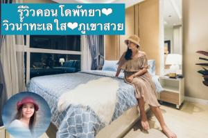 For RentCondoPattaya, Bangsaen, Chonburi : Ocean Front Luxury Residence For Rent for rent, condo, Pattaya, beautiful decoration, ready to move in. The last unit, 15th floor, beautiful sea view + sunset The most classic Close to Jomtien Beach, Pattaya With private balcony