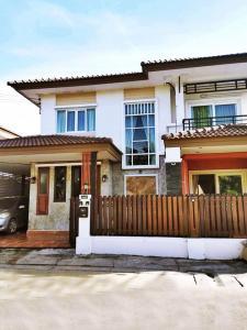 เช่าบ้านพัฒนาการ ศรีนครินทร์ : ให้เช่าบ้านเดี่ยว 2 ชั้น | โครงการ พฤกษา วิลเลจ 19 บางนา-ตราด กม.10 | บ้านสวยหลังมุม