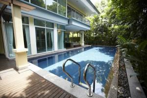 For RentHouseChengwatana, Muangthong : A.N -  house for rent with swimming pool The price is very cheap !!! Area 845 sq m. 7 bedrooms, 7 bathrooms, Chaengwattana, Pak Kret
