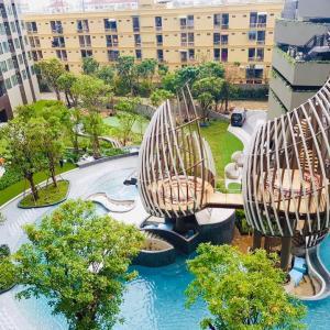 ขายคอนโดอ่อนนุช อุดมสุข : ขายคอนโดสไตล์รีสอร์ท ! Elio del nest (เอลลิโอ เดล เนสท์) อุดมสุข สุขุมวิท103 2/2 bed ตึก D 52.04 ตร.ม ครัวปิด ราคา 4.59 ลบ วิวสระ ทิศตะวันออก ฟลูเฟอร์ ฟรีเครื่องใช้ไฟฟ้า จัดเต็ม