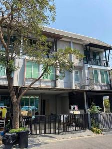 For RentTownhouseKaset Nawamin,Ladplakao : For Rent 3-storey townhome, Areeya Daily Kaset-Nawamin village. Ladplakhao Road, very beautiful house, 3 air conditioners, fully furnished, living, able to support small animals