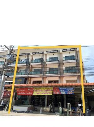 For SaleShophouseMahachai Samut Sakhon : ขายตึกแถวริมถนนพุทธสาคร4คูหาทำเลดี