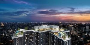 Sale DownCondoRama9, RCA, Petchaburi : Buy directly with the project. Free All! 1 bedroom, corner room, 35.9x square meters, Life Asoke Rama 9 Nun 0645542655.