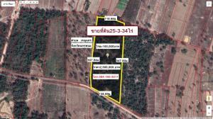 For SaleLandNakhon Phanom : Land for sale, area 25 rai, 3 ngan, 34 square wa, located at Ban Nong Saeng, Renu Nakhon District, Nakhon Phanom Province.