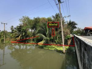 For SaleLandSamut Songkhram : For sale #Amphawa land With a very beautiful building behind the river The front of the road, Sat 2012