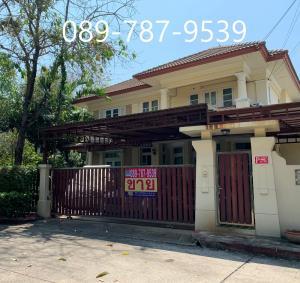 For SaleHouseBangbuathong, Sainoi : Detached House for sale, Perfect Place Rattanathibet, 109 sq.wah, near the Purple Line, Sai Ma station.