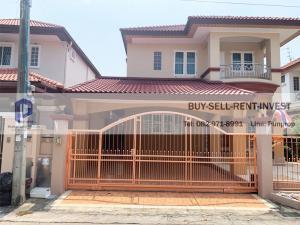 For SaleHouseNakhon Pathom, Phutthamonthon, Salaya : 2 storey detached house for sale, Khlong Thawi Watthana, beautiful village house, rim Than 5, area 54 square wa 3 bedrooms, price 6 million