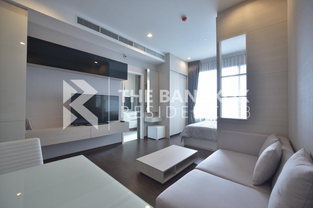 ขายคอนโดพระราม 9 เพชรบุรีตัดใหม่ : [Sale] Q Asoke 30sqm Studio West Fullyfurnished Valueroom Cityview