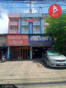 For SaleShophouseSamrong, Samut Prakan : Urgent sale, 2 commercial buildings, behind Wat Nam Daeng, Samut Prakan