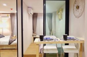 For RentCondoSamrong, Samut Prakan : Condo for rent, tropicana, next to BTS Erawan, size 2 bedrooms, fully furnished