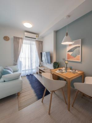 For SaleCondoRatchadapisek, Huaikwang, Suttisan : Quick sale, condo for sale, CHAPTER ONE ECO Ratchada-Huay Kwang. new decoration ready