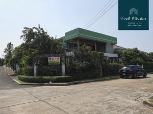 For SaleHouseRathburana, Suksawat : House for sale The Grand Ring Road - Pracha Uthit The cheapest price in the corner house project, convenient transportation, near KMUTT, Thonburi Suan Kularb School, Central Rama 2