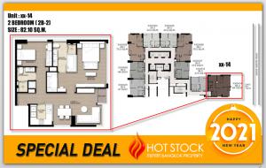 For SaleCondoSukhumvit, Asoke, Thonglor : 19.99 minus! 2BR 82.1 sqm - The Esse Asoke - Best price, special room, Supper VVIP lot. Special.