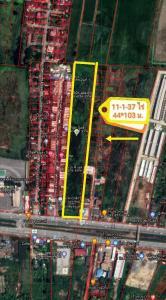 For SaleLandRamkhamhaeng,Min Buri, Romklao : Urgent sale !! Sold below the market price !! Beautiful land area 11-1-37 rai, good location, next to Suwinthawong Road Near the intersection of Nong Chok.