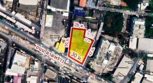 For SaleLandChokchai 4, Ladprao 71, Ladprao 48, : Beautiful plot of land on Lad Phrao Road, Soi 85, area 1-0-19.9 rai, next to the entrance-exit of the Yellow Line MRT station, Lat Phrao 83, Bangkapi, Bangkok.