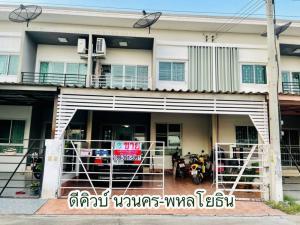 For SaleHouseAyutthaya : House for sale D-Cube Phaholyothin-Navanakorn, next to Nava Nakorn salt plant Phra-In Market