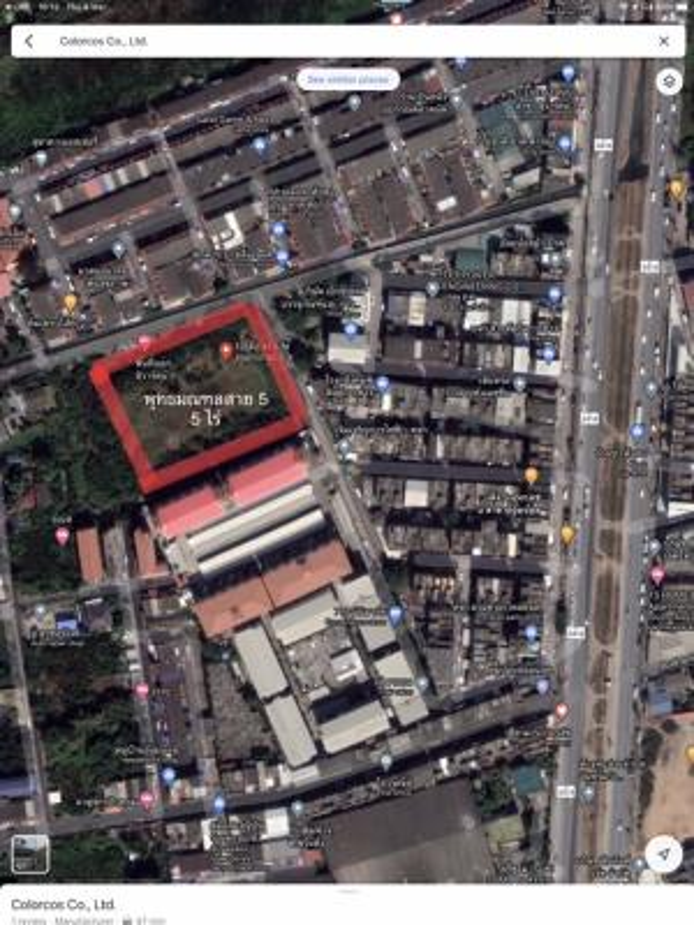 For SaleLandMahachai Samut Sakhon : Land for sale 5 rai 18 square wa, Om Noi Subdistrict, Krathum Baen District, Samut Sakhon Province (filled)Location: Om Noi Subdistrict, Krathum Baen District, Samut Sakhon Province