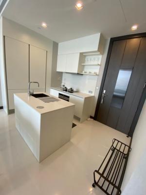 เช่าคอนโดนานา : Q Sukhumvit BTS Nana 2 bedrooms for rent 95 sqm on 15 floor comes with dishwasher oven 90k