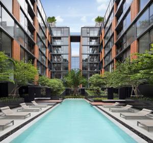 เช่าคอนโดสุขุมวิท อโศก ทองหล่อ : ให้เช่า 2 ห้องนอน 2 ห้องน้ำ 46ตรม ตึก B ชั้น 8 Quintara Treehaus Sukhumvit 42 พร้อมอยู่
