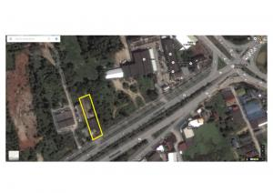 For RentLandHatyai Songkhla : Land for rent short-term - long, land adjacent to the water intersection, Songkhla province, area of approximately 1.5 rai.