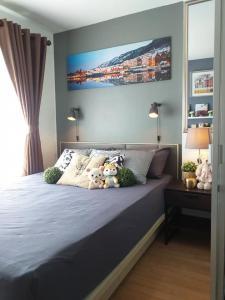 For RentCondoOnnut, Udomsuk : Condo for rent, Lumpini Ville On Nut 46, Building C2, 3rd floor, studio room, built-in whole room
