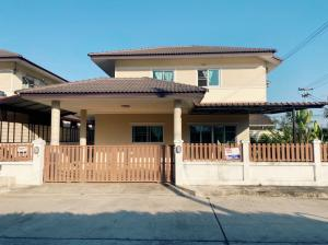 For SaleHouseChiang Mai : H03RI 2 storey house for sale near Nong Chom intersection, 4 bedrooms, 4 bathrooms