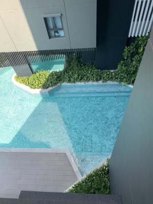 For SaleCondoWongwianyai, Charoennakor : Discount price during COVID! Ideo sathorn wongwian yai (Ideo Sathorn Wongwian Yai) near BTS only 140 m. 1 bed 35 sq m, price 4,690,000 baht! Fully furnished, pool view, very beautiful