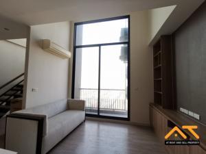 For SaleCondoRatchathewi,Phayathai : Sale The Capital Ratchaprarop-Vibha Duplex 3 bedrooms with furniture, high floor, 90 square meters.