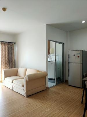 For RentCondoThaphra, Wutthakat : Condo for rent, beautiful corner room, 2 bedrooms, 2 bathrooms, with fixed parking
