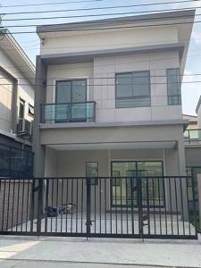 For RentTownhouseRamkhamhaeng,Min Buri, Romklao : For rent townhome style, 2-storey detached house, The Plant Ramkhamhaeng-Wongwan T.091-0910901 Nook.