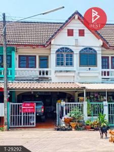 For SaleTownhousePrachin Buri : Two-story townhouse for sale. Manthana Village, Kabinburi, Prachinburi