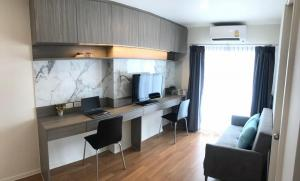 For RentCondoKasetsart, Ratchayothin : Condo for rent Lumpini Kasetsart (The Selected Kaset-Nawamin) 1 bedroom size 28 sq m, fully furnished and electrical appliances, new condition, ready to move in, rent 13,000 baht / month