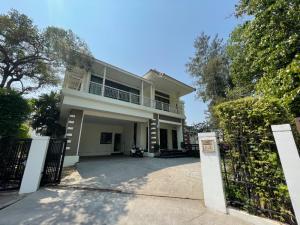 For SaleHouseBang Sue, Wong Sawang : Price reduced from 23 million to 19.9 million. Sell Luxury House Setthasiri Prachachuen, beautiful house, lake view with indoor pool.