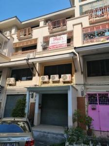 For RentShophouseRama 2, Bang Khun Thian : 4-storey commercial building for rent, Thonburi Complex, Rama 2 Road, 6 air conditioners, suitable for office