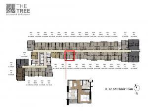 ขายคอนโดสุขุมวิท อโศก ทองหล่อ : ขายห้องเปล่า The Tree Sukhumvit 71 ชั้น 29 ทิศใต้ หัวนอนหันทิศตะวันออก