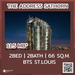 For SaleCondoSathorn, Narathiwat : ✨ The Address Sathorn ✨ [For Sale] Very new room, fully furnished, high floor, lower price than market price.