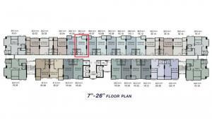 Sale DownCondoRamkhamhaeng, Hua Mak : [OWNER POST] sale down payment, 22nd floor, building C, east, not hot, open view