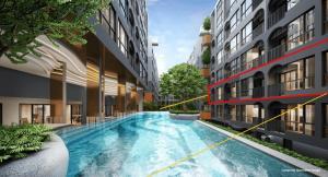 Sale DownCondoNakhon Pathom, Phutthamonthon, Salaya : Kave Salaya, pool view room, 3rd floor, beautiful, price around VIP