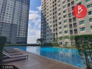 For SaleCondoSamrong, Samut Prakan : Condo for sale, Aspire Erawan, Samut Prakan, plus built-in furniture.