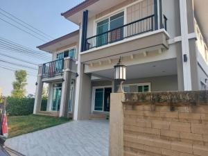 For RentHouseNakhon Pathom, Phutthamonthon, Salaya : For rent 💥 Single house on Phutthamonthon Sai 4, behind the corner of Patsorn Furniture, built in every room, beautiful house, suitable for office and living.