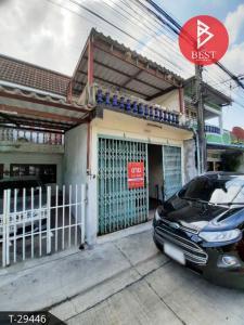 For SaleTownhouseSamrong, Samut Prakan : 2 storey townhouse for sale, Rom Pho Village 2, Thepharak, Samut Prakan, near Thepharak Intersection