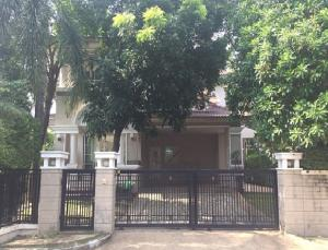 For RentHousePattanakan, Srinakarin : For Rent 2 storey detached house for rent, Nantawan Suan Luang Rama IX Village, large house, 95 square meters, very beautiful decoration, fully furnished