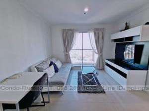 For RentCondoRama9, RCA, Petchaburi : RENT !! Condo Lumpini Place, MRT Rama 9, 2 Bed, B Bl., 24 Fl., Area 71 sq.m., Rent 23,000 .-